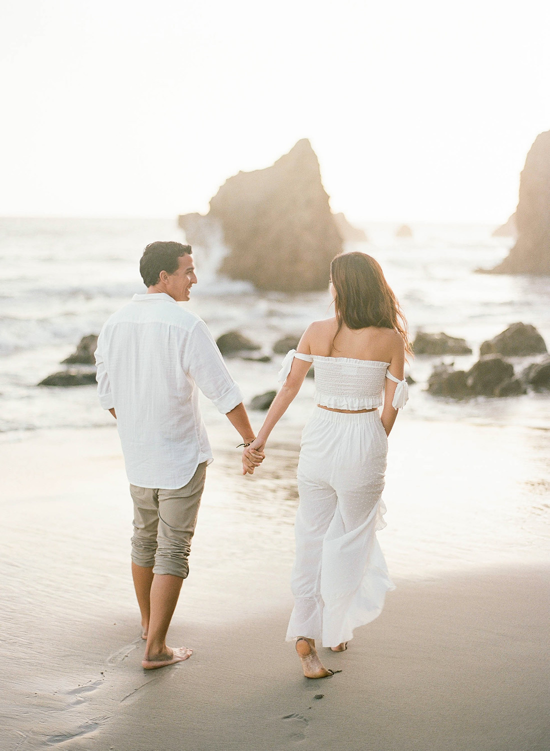 malibu beach engagement shoot, southern california wedding photography